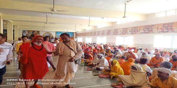 अनूपपुर: कल्याण सेवा आश्रम में हवन व भड़ारे के साथ पूर्ण हुआ नवरात्रि पर्व