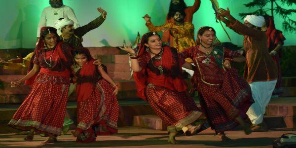 जेकेके में 'खेजड़ी की बेटी' नाटक का हुआ मंचन